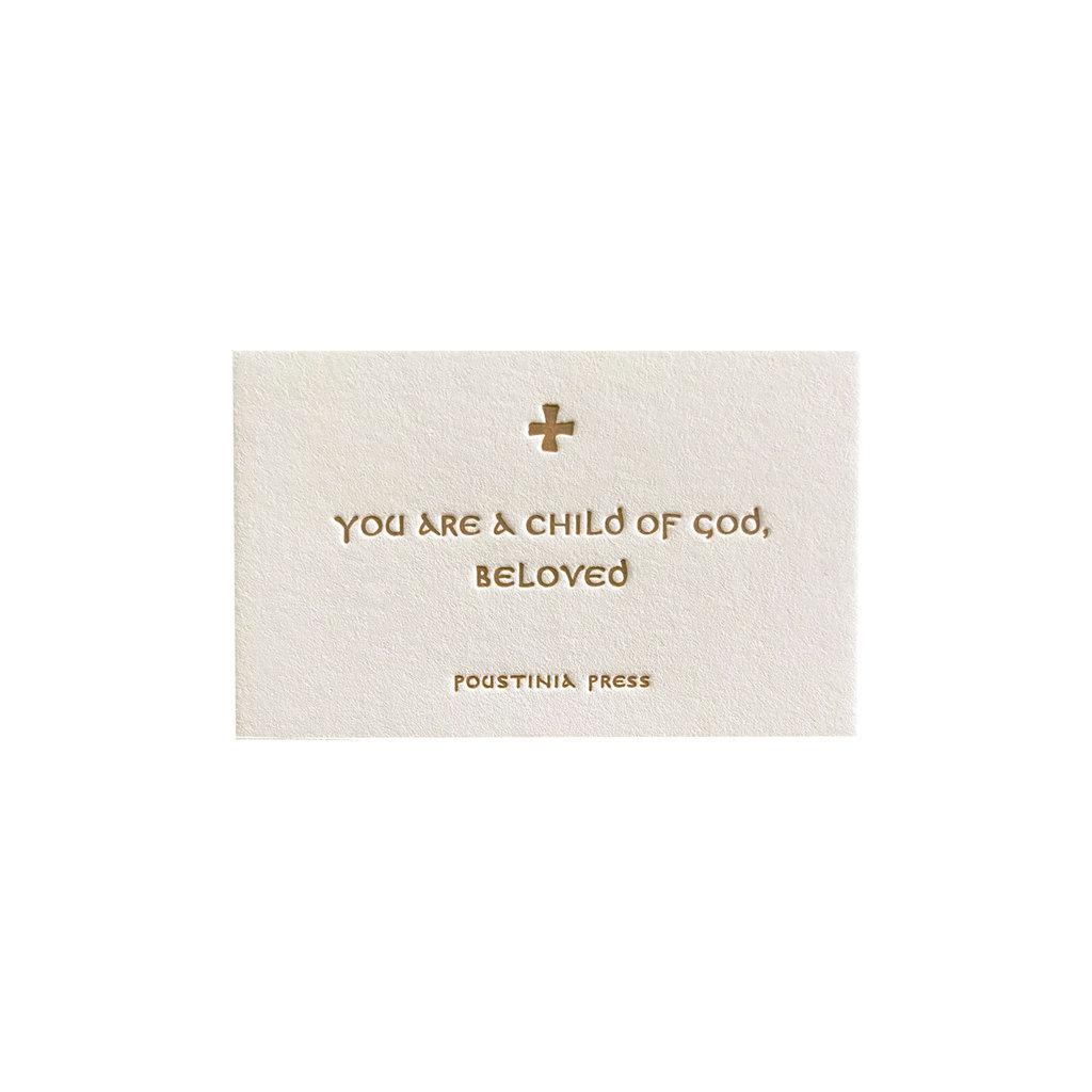Child of God, Beloved mini prayer card