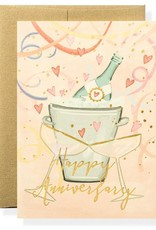 Anniversary Toast Letterpress Greeting Card