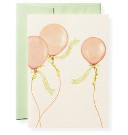 Balloons Birthday Letterpress Greeting Card