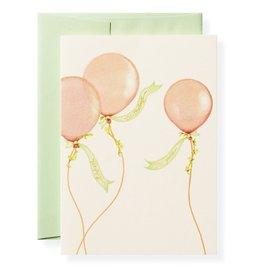 Balloons Birthday Letterpress Greeting Card