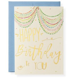 Bash Birthday Letterpress Greeting Card