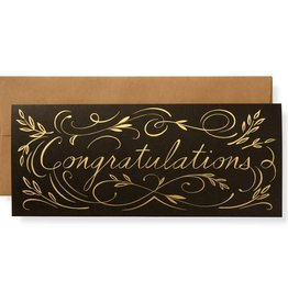 Gilt Congratulations Letterpress Greeting Card