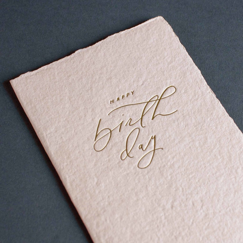 Oblation Papers & Press Happy Birthday Calligraphy Note