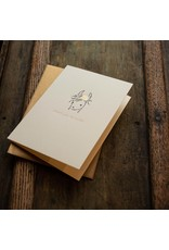Oblation Papers & Press Thank You So Much Llama Letterpress Card