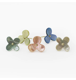 Flower Push Pins - Oyster Shell Assorted Set of 5