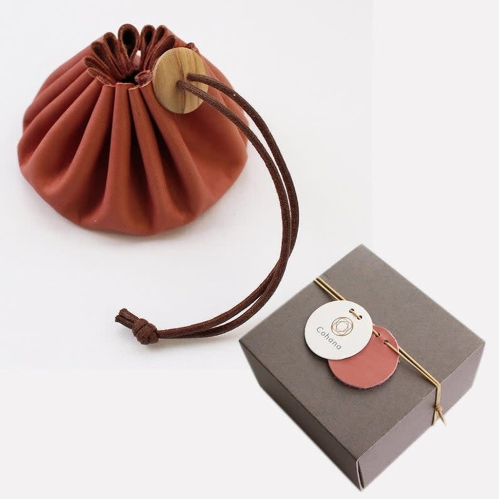 Himeji Leather Pouch - Pink