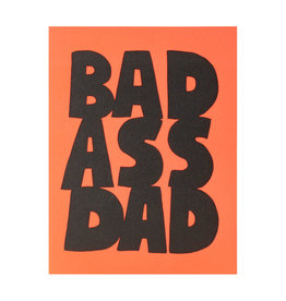 Ashkahn Bad Ass Dad Letterpress Card