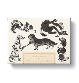 Dog Boxed Notecard Set - 12 Assorted Cards