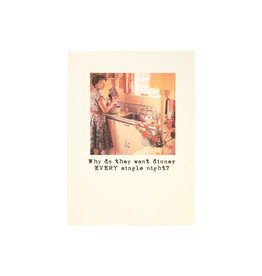 Paper Love Boutique Dinner Every Night Greeting Card