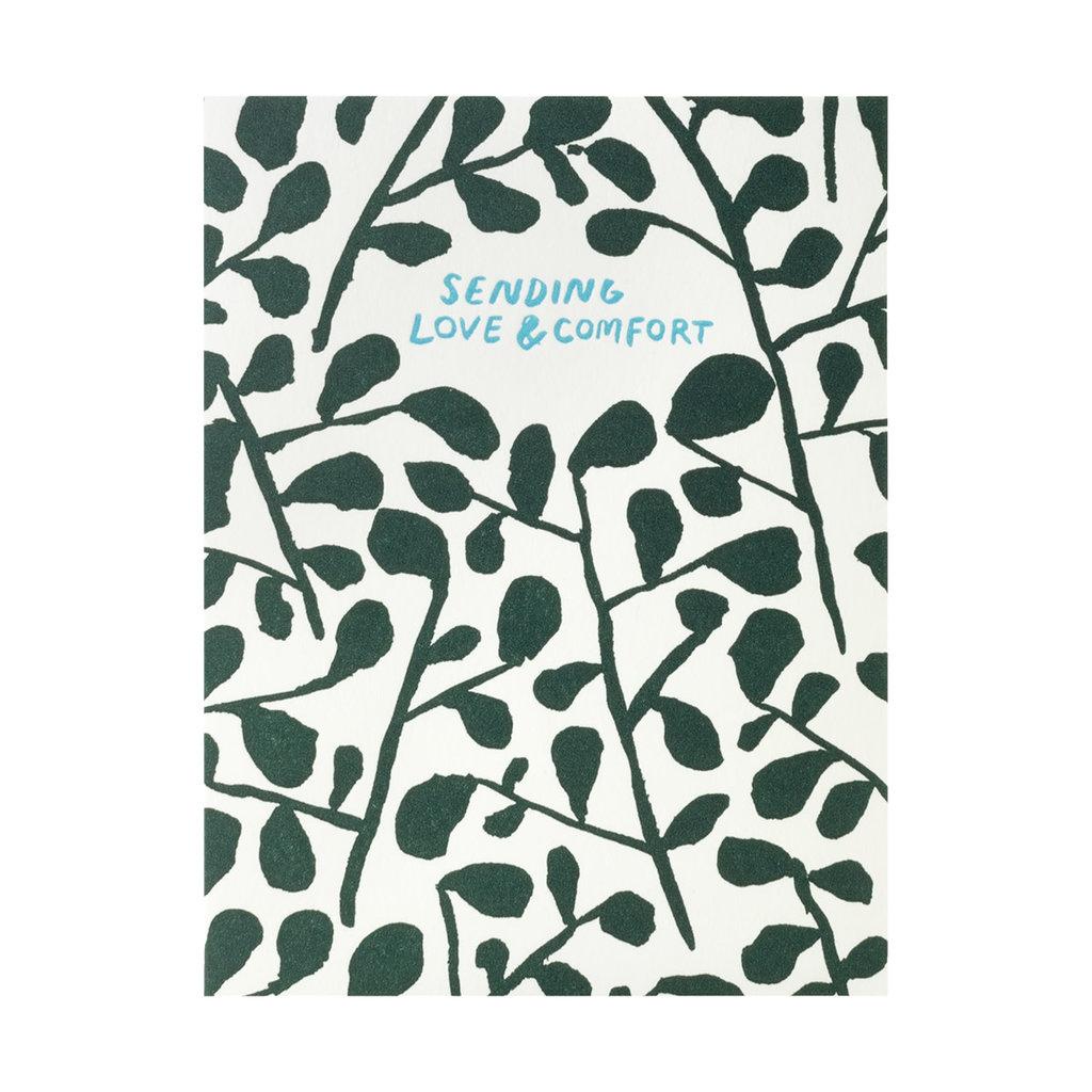Egg Press Sending love & comfort Letterpress Card