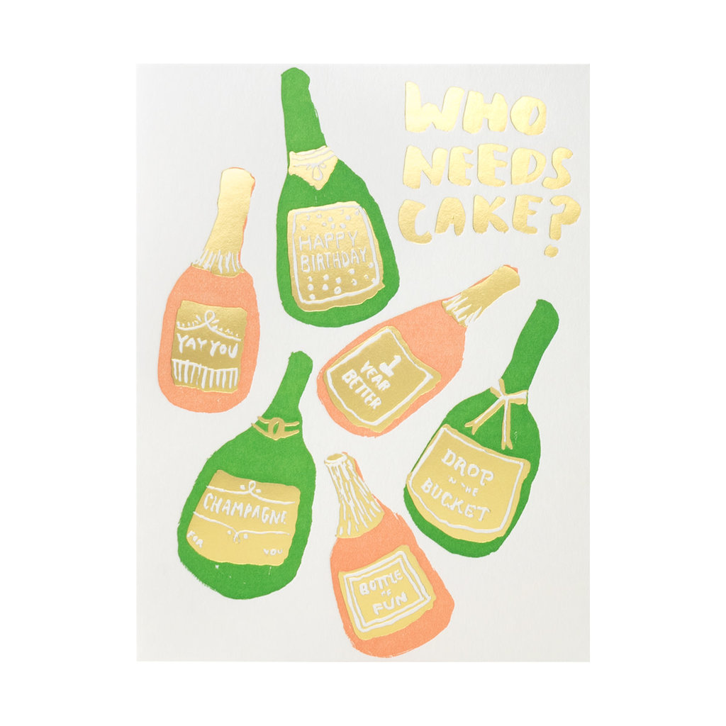 Egg Press Bubbles Birthday Letterpress Card