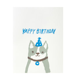 Egg Press Yappy Birthday Letterpress Card