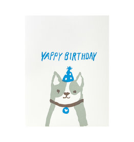 Egg Press Yappy Birthday Letterpress Card