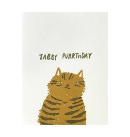 Egg Press Tabby Purrthday Letterpress Card