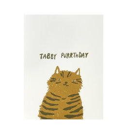 Egg Press Tabby Purrthday Letterpress Card