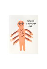 Egg Press Monster Hug Letterpress Card