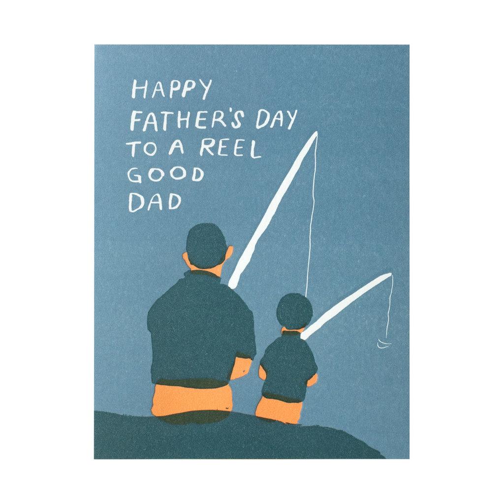 Egg Press Reel Good Dad Letterpress Card