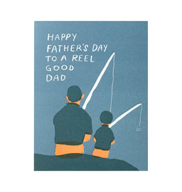 Egg Press Reel Good Dad Letterpress Card