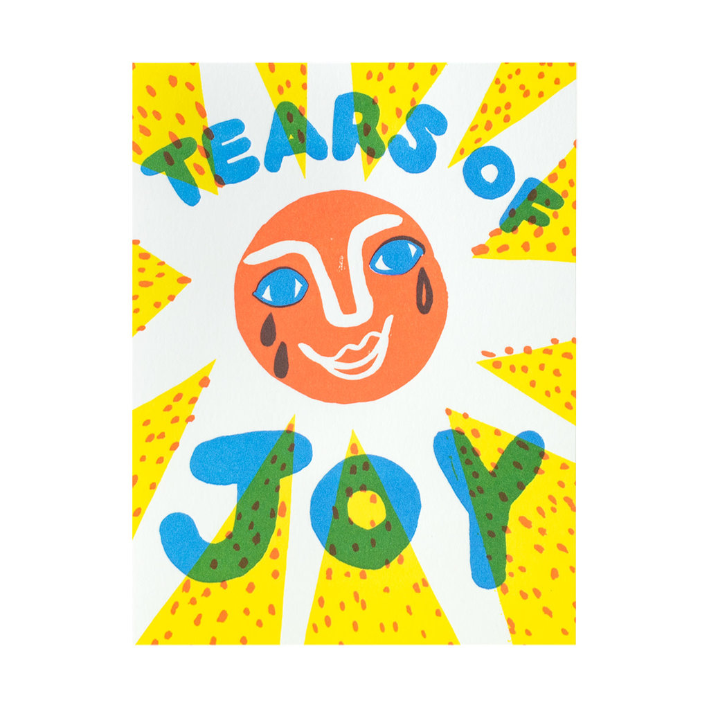 Egg Press Tears of Joy Letterpress Card