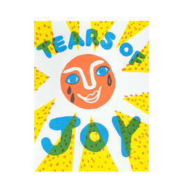 Egg Press Tears of Joy Letterpress Card