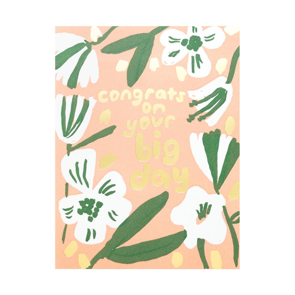 Egg Press Big Day Congrats Letterpress Card