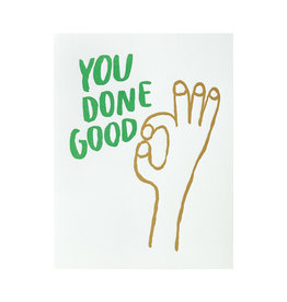 Egg Press You Done Good Letterpress Card
