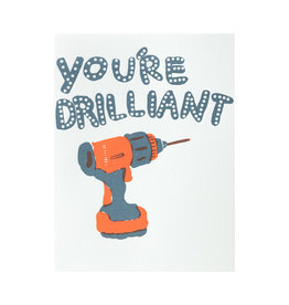 Egg Press You're Drilliant Letterpress Card