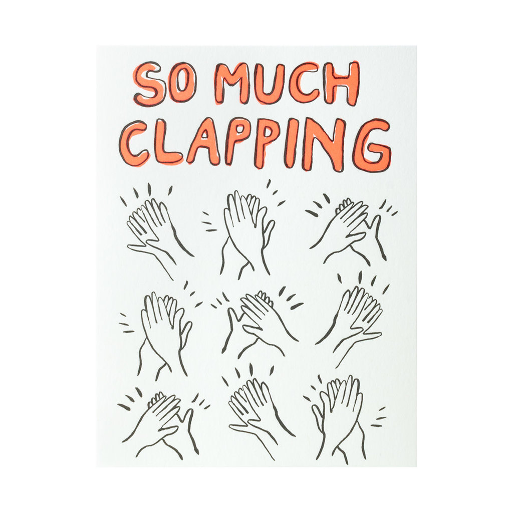 Egg Press Clapping Congrats Letterpress Card