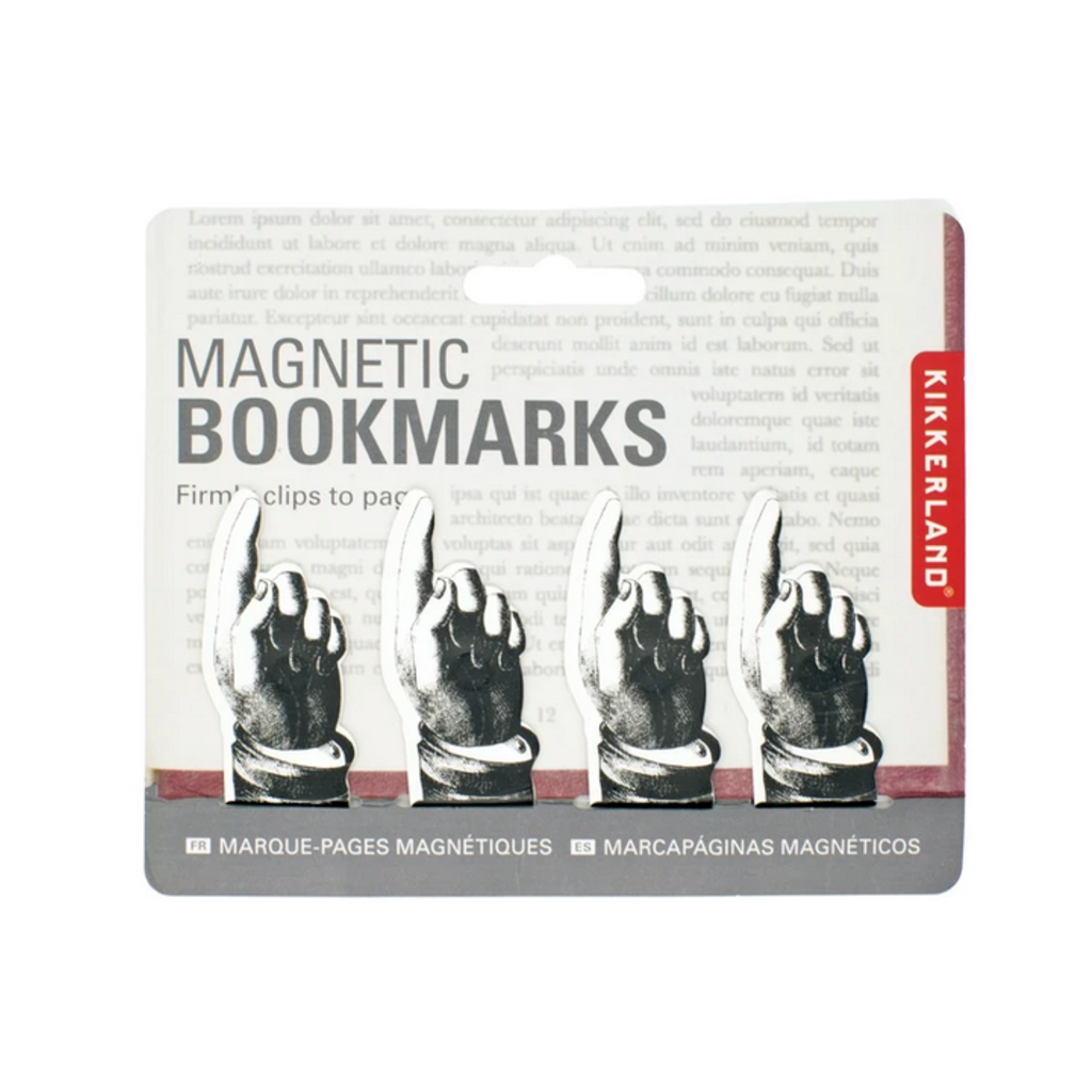 Kikkerland Magnetic Pointing Bookmark Set of 4