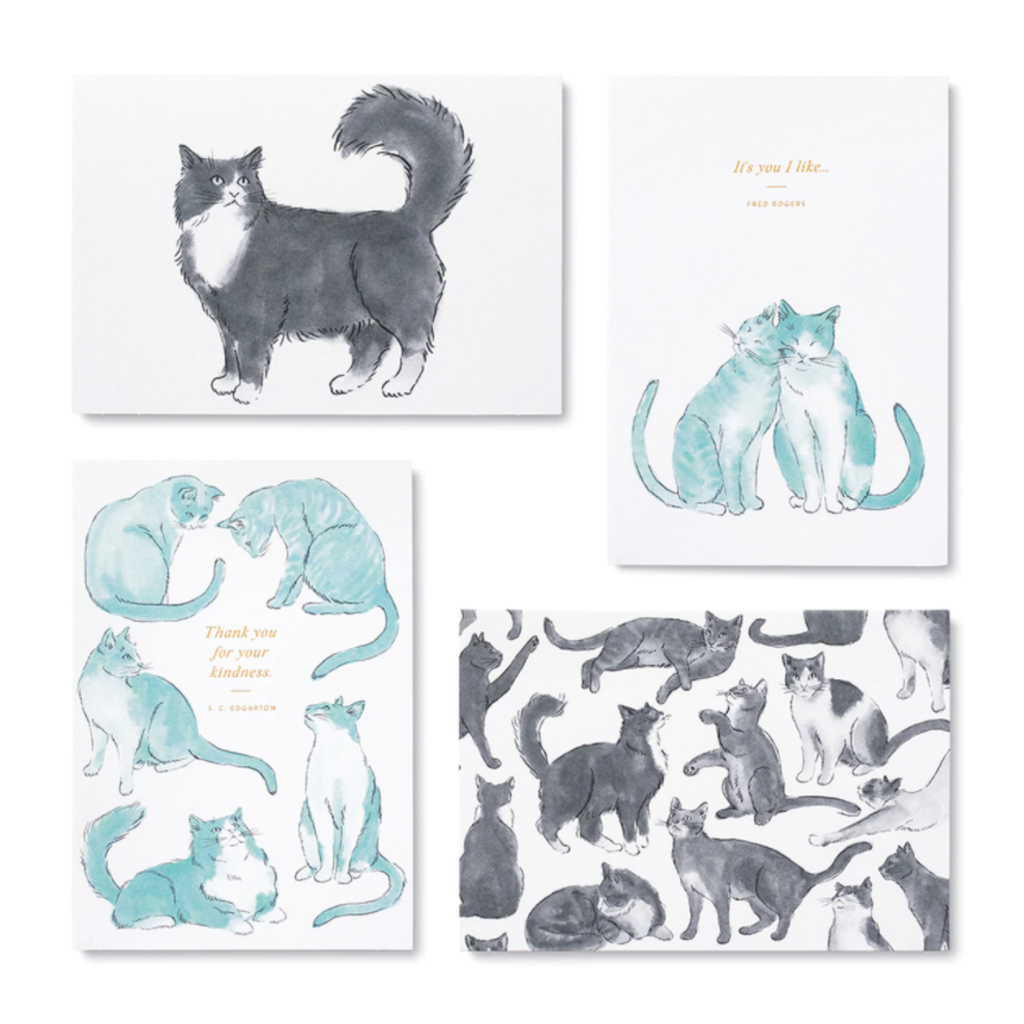 Cat Boxed Notecard Set - 12 Assorted Cards