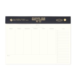 Standard Issue Standard Issue Undated Weekly Desk Pad Black