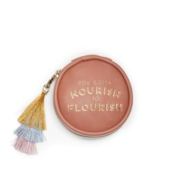Designworks Vegan Leather Pill Box with Tassel - Terracotta