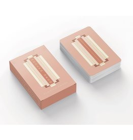 "Designworks Terracotta ""Modern Deco"" Playing Card Deck"