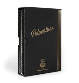 Designworks Adventure Set of 5 Flex Undated Travel Planners - Black