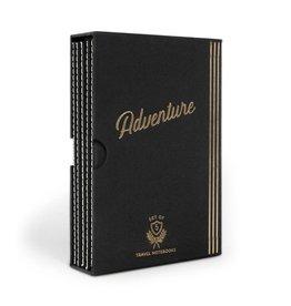 Designworks Adventure Set of 5 Flex Undated Travel Planners - Black