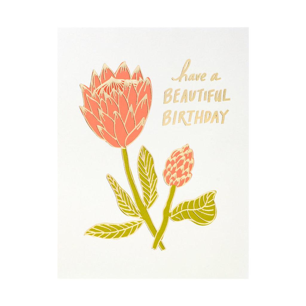 Odd Daughter Paper Co. Beautiful Birthday Letterpress Card