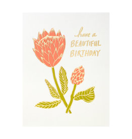 Odd Daughter Paper Co. Beautiful Birthday Letterpress Card