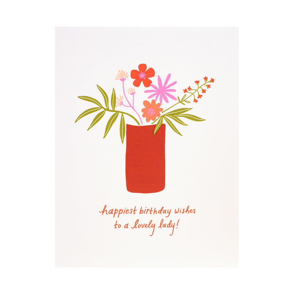 Odd Daughter Paper Co. Lovely Lady Birthday Greeting Card