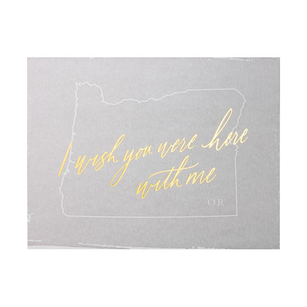 Little Well Paper Co. Wish You Were Here - Oregon Letterpress Card
