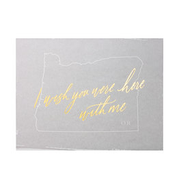 Little Well Paper Co. Wish You Were Here - Oregon Letterpress Card
