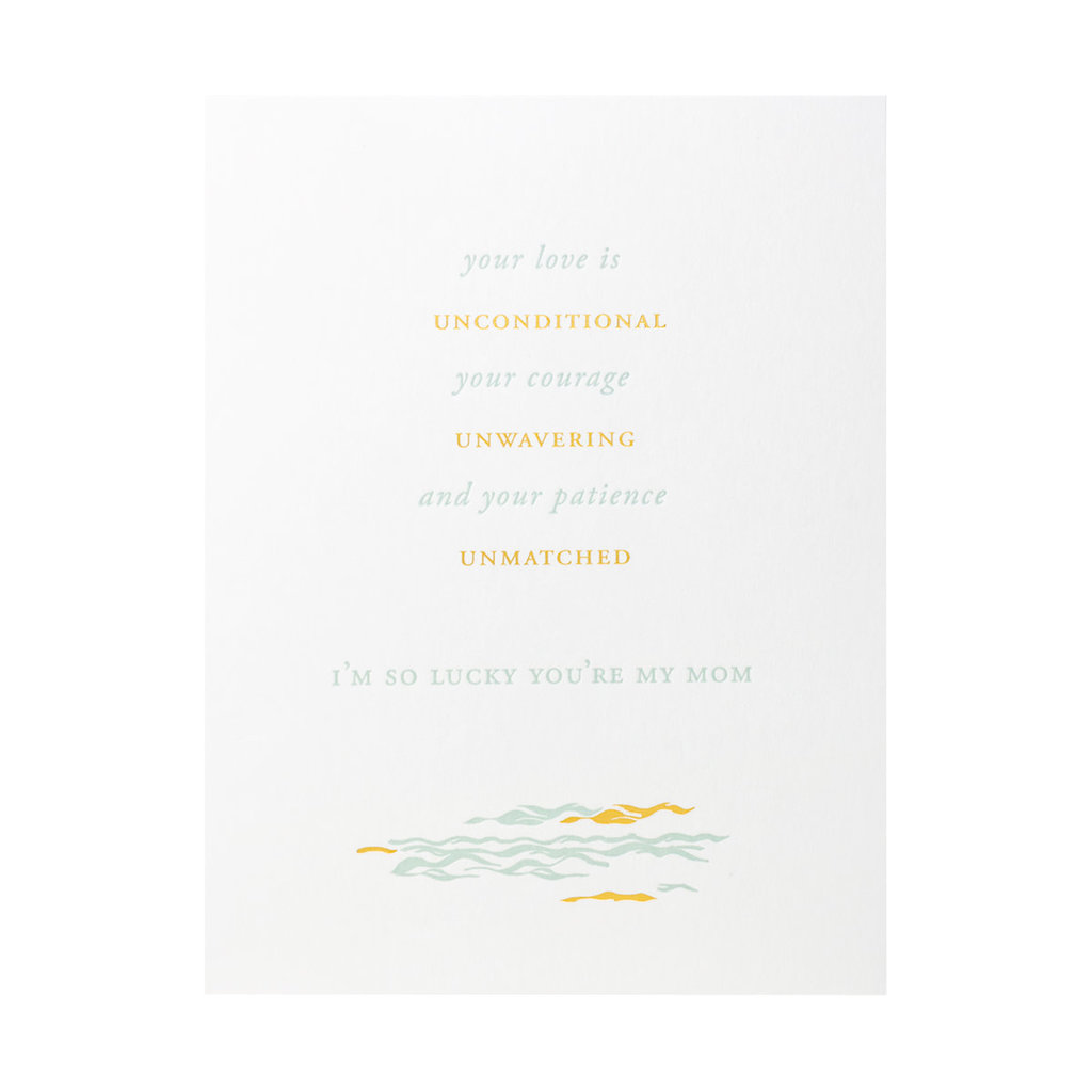Little Well Paper Co. Lucky You're My Mom Letterpress Card