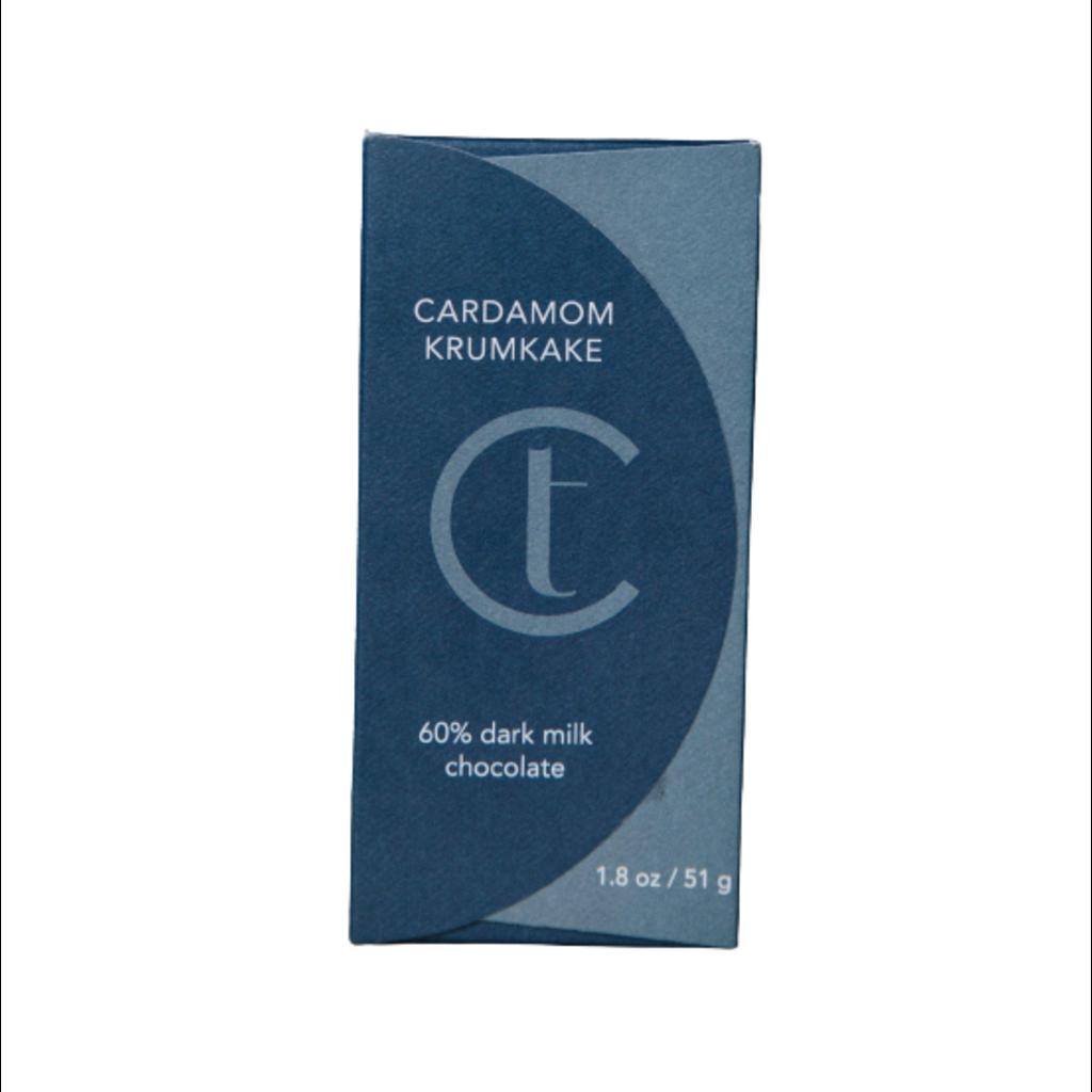 Terroir Chocolate Cardamom Krumkake 60% Chocolate Bar