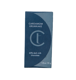 Terroir Chocolate Cardamom Krumkake 60% Chocolate Bar