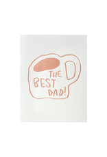 And Here We Are Dad Mug Letterpress Card