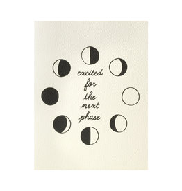 And Here We Are Moon Phase Greeting Card