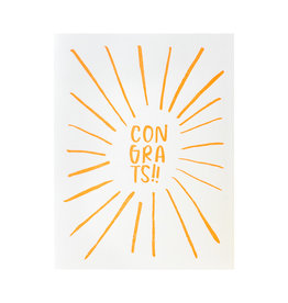 And Here We Are Congrats Letterpress Card