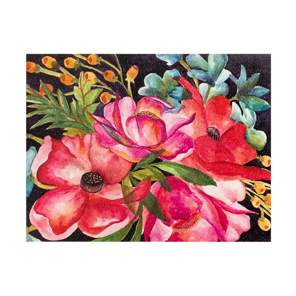 Maija Rebecca Hand Drawn Bright Watercolor Floral Greeting Card