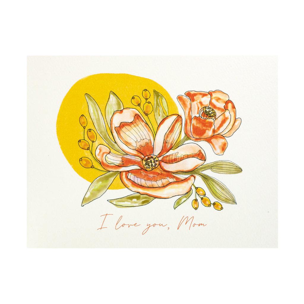 Maija Rebecca Hand Drawn I Love You, Mom Greeting Card