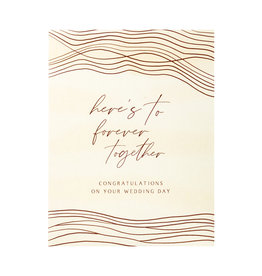 Maija Rebecca Hand Drawn Together Forever Wedding Greeting Card