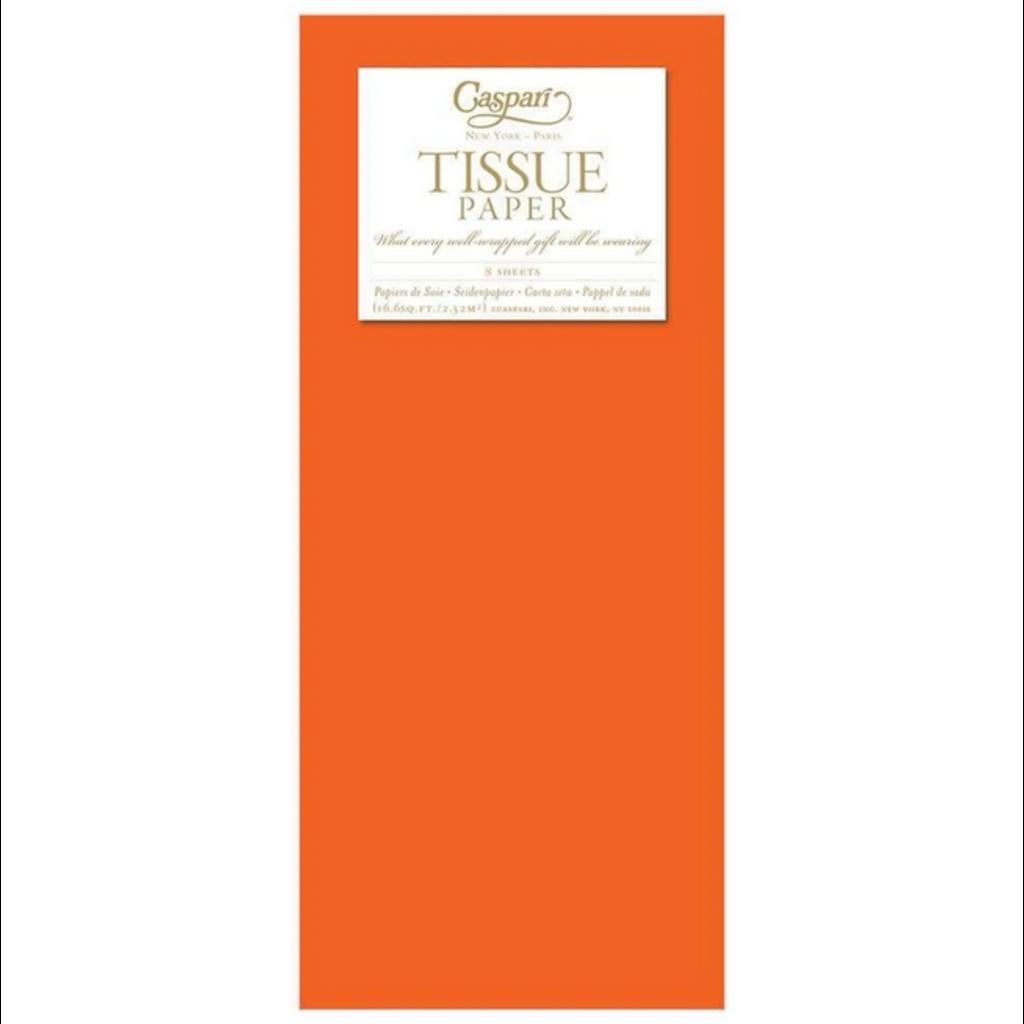 Caspari Orange Tissue Package - 8 Sheets
